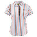 ビバハート(VIVA HEART) ゴルフウェア レディース ストライププリント半袖シャツ 012-...