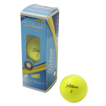 タイトリスト(TITLEIST) ゴルフボール TOUR SOFT イエロー 3個入り T4111S-3PJ (Men's)