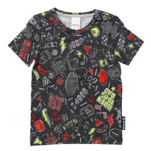 リーボック(REEBOK) 【多少の汚れ等訳あり大奉仕】ボーイズ 総柄 Tシャツ MMC15-BQ3264 (Jr)