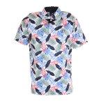 クランク(CLUNK) ゴルフ ポロシャツ 冷感ボタニカル柄ポロシャツ CL5KTG10 WHT (メンズ)