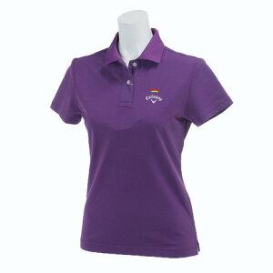 キャロウェイ(CALLAWAY) ゴルフウェア レディース 17L鹿の子ポロシャツ 241-7151807-080 PUL  (Lady's)