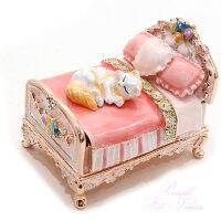 ピィアースジュエリーケースミニチュアベッドEX504-1ねこ猫ネコギフト贈り物プレゼント
