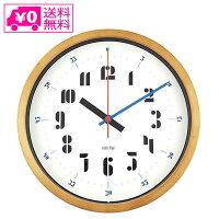 送料無料バウハウスウォールクロックWCL-003掛時計木製おしゃれキッズ子供知育音がしないシンプル北欧ギフト新築祝い