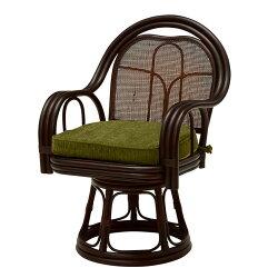 【座椅子回転座いす座イス1人掛けソファ回転座椅子ダークブラウン】