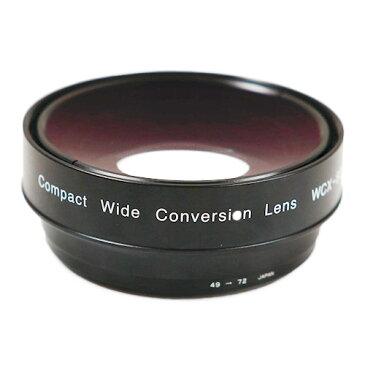 《新品》【送料無料、在庫あり!】Zunow WCX-80R49 Φ49/72mm 0.8倍ワイドコンバージョンレンズ