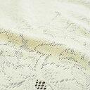 綿混ジャガードレース マルチカバー(生成りアイボリー) 19313 約200×300cm