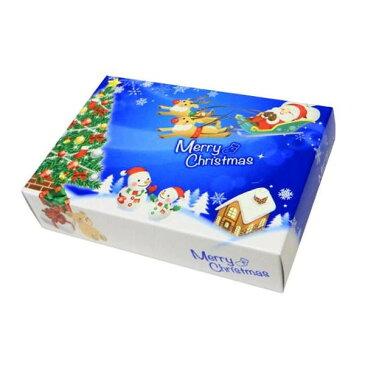 ハッピークリスマス ポストカード クリスマス BOXティッシュ 100個入 7068【代引・同梱・ラッピング不可】