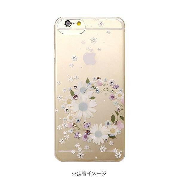 iPhone 8/7/6/6s専用 ハンドメイドプリントカバー フラワーリース 8IL04