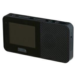 YAZAWA 2.3インチ防水ワンセグテレビブラック TV05BK