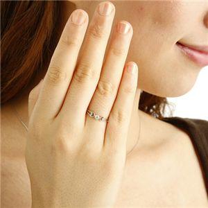 【ポイント2倍】K18WGアンティーク調ダイヤリング指輪17号送料無料!【02P11Mar16】