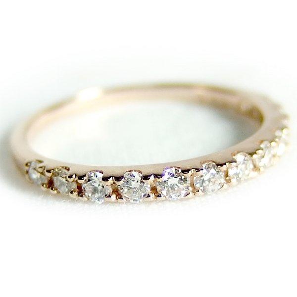 ダイヤモンド リング ハーフエタニティ 0.3ct 13号 K18 ピンクゴールド ハーフエタニティリング 指輪 送料無料!