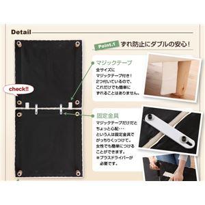 マットレスベッドクイーン脚30cmブラック新・移動ラクラク!分割式ボンネルコイルマットレスベッド専用敷きパッドセット
