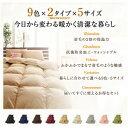 9色から選べる 洗える抗菌防臭 シンサレート高機能中綿素材入り布団 8点セット ベッドタイプ キング10点セット アイボリー 2
