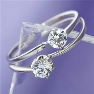 大きめだけPT900/0.3ctダイヤモンドリング81608/6爪19【DS】送料込!【前払・同梱・ラッピング】