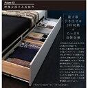 モダンライト・コンセント付き収納ベッド Farben ファーベン 羊毛入りゼルトスプリングマットレス付き ダブル ホワイト 3