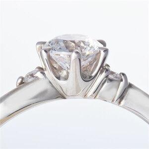 Dカラー・VVS2・EXPt0.3ctダイヤリング両側ダイヤモンド(鑑定書付き)10号送料無料!