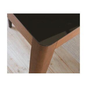 あずま工芸ダイニングテーブル幅135cmガラス天板ダークブラウン【2梱包】GDT-7670送料込!