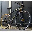 クロスバイク 700c(約28インチ)/ブラック(黒) シマノ7段変速 重さ/ 12.0kg 軽量 アルミフレーム 【LIG MOVE】【代引不可】 送料込!