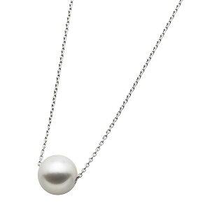 アコヤ真珠ネックレスパールネックレスK18ホワイトゴールド花珠クラス約8mm約8ミリ珠40cm長さ調節可能(アジャスター付き)あこや真珠パール本真珠送料無料!