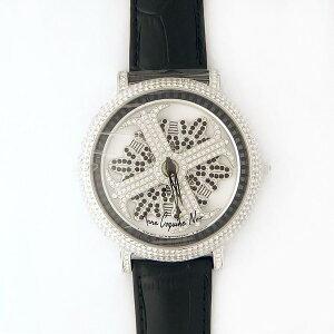 アンコキーヌネオ45mmバイカラーミニクロスシルバーベゼルインナーベゼルブラックブラックベルトアルバ正規品(腕時計・グルグル時計)送料無料!