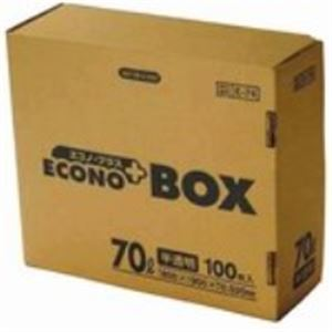 (業務用30セット) 日本サニパック エコノプラスBOX E-74 半透明 70L 100枚!:生活雑貨のお店!Vie-UP