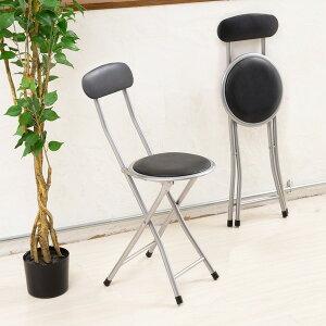 ホームチェア【6脚セット】(折りたたみ椅子/カウンターチェア)高さ74cm合成皮革/スチール/パイプイス/いす/背もたれ付き/軽量/コンパクト/完成品/NK-001送料無料!