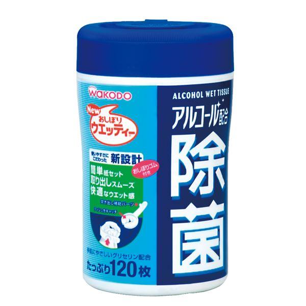 (まとめ)和光堂 除菌 アルコール配合除菌ウエッティー 120枚入 W40【×10セット】 送料込!