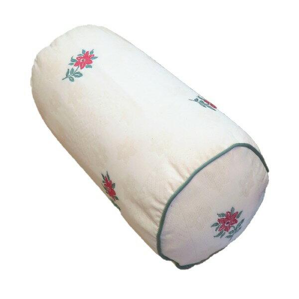 ボルスタークッション/腰枕 【15R×30cm グリーン】 洗えるカバー 『オロペサ』