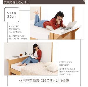 ベッドシングル_ワイド棚【Saturno】【ボンネルコイルマットレス付き】ホワイトパソコンが置けるワイド棚・コンセント付きベッド【Saturno】サトゥルノ【】