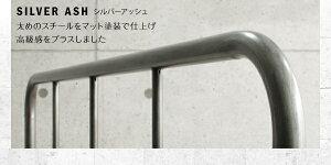 すのこベッドシングルフットハイ【ボンネルコイルマットレス:レギュラー付き】フレームカラー:シルバーアッシュマットレスカラー:ブラックデザインスチールすのこベッドDualtoデュアルト