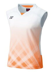ヨネックス YONEX テニス・バドミントン ウエア(ウィメンズ) ウィメンズゲームシャツ(ノースリーブ) サンシャインオレンジ(488) O 20612 部活動 クラブ活動