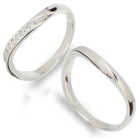 【刻印無料】【納期約4週間】Tenshi no Tamago 天使の卵 Angel Wedding K10マリッジリング 結婚指輪 レディース メンズ ペア 10金 10k ホワイトゴールド ダイヤモンド 誕生石12色 AW2358K10WG