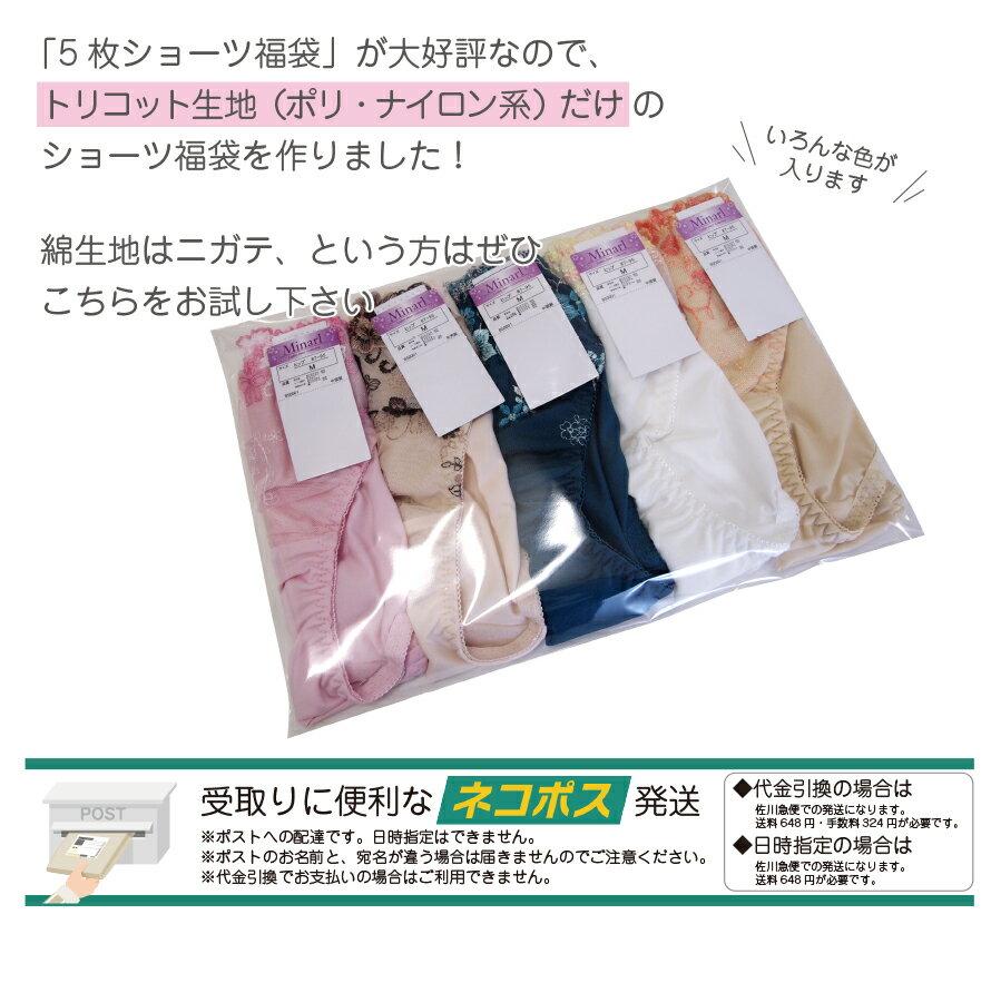 5枚入ショーツ福袋(縦横に伸びるナイロン系セット)