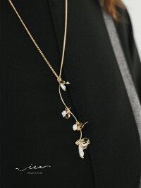 【再入荷3月21日20時より】「Vieo」可憐なスズランの花ネックレスゆったりレディースVieoヴィオきれいめシンプル大人上品