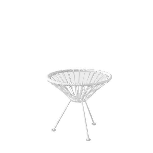 アカプルコ マキシマムホワイト サイドテーブル