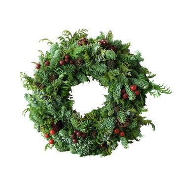 Lamb'sラムズ オレゴン産モミ クリスマスリース フレッシュA