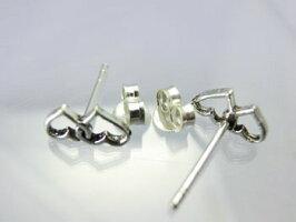 ハートピアスシルバー925純銀