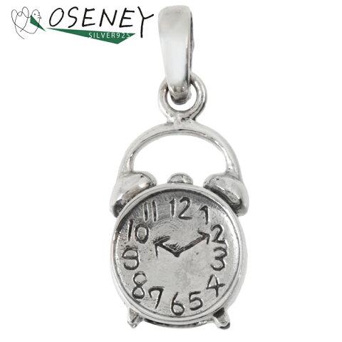 時計 目覚まし時計 ペンダント チャーム シルバー 925 純銀