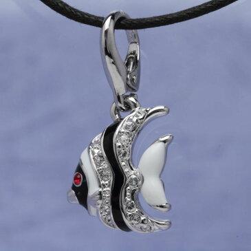 スワロフスキー チャーム Aqua1 お魚 No.1 オリバーウェバー(OLIVER WEBER) ペンダント 首飾り ストラップ プレゼント メンズ レディース あなたのハートを鷲掴み 誕生日 おしゃれ ギフト