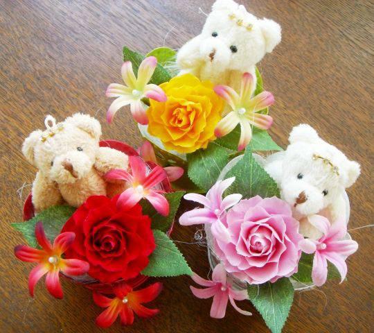 花・観葉植物, プリザーブドフラワー Little Bear PW