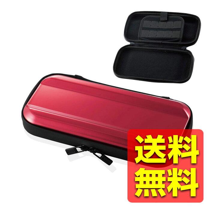 Nintendo Switch Lite専用/ZEROSHOCKハードポーチ/レッド GM-NSLZSHCRD / ELECOM エレコム 【送料無料】