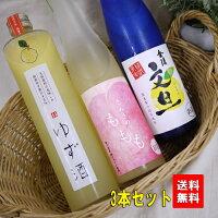【送料無料!】当店厳選金陵の果実酒3種セット♪桃・柚子・文旦各500ml【果実酒・リキュール】