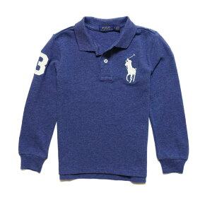 ポロ ラルフローレン POLO RALPH LAUREN ボーイズ Boys 長袖 ポロシャツ Cotton Mesh Polo Shirt ネイビー ヘザー Navy Heather