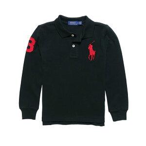 ポロ ラルフローレン POLO RALPH LAUREN ボーイズ Boys 長袖 ポロシャツ Cotton Mesh Polo Shirt ポロブラック Polo Black