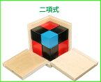モンテッソーリ 二項式 Binomial Cube Montessori 知育玩具