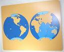 モンテッソーリ 海洋パズル ♪大きいです♪ Montessori Oceanic Distribution Puzzle 知育玩具