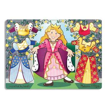 メリッサ&ダグ プリンセス ペグパズル 8ピース Melissa & Doug Princess Dress-Up Mix 'n Match Peg Puzzle 8 pieces