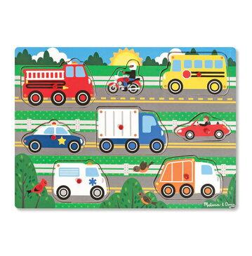 メリッサ&ダグ 乗り物 ペグパズル 8ピース Melissa & Doug Vehicles Peg Puzzle 8 pieces