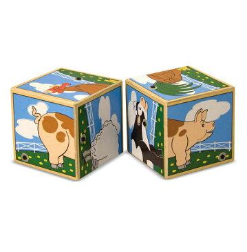 メリッサ&ダグ 木製 サウンド・ブロック 牧場動物 Melissa & Doug Farm Sound Blocks