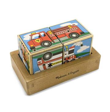 メリッサ&ダグ 木製 サウンド・ブロック 乗り物 Melissa & Doug Vehicles Sound Blocks